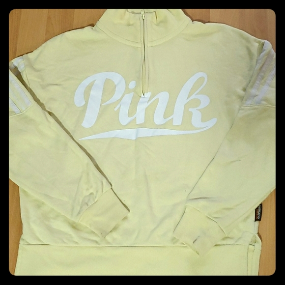 "*SOLD 3 FOR $50.00 *""Pink"" Quarter zip pullover"